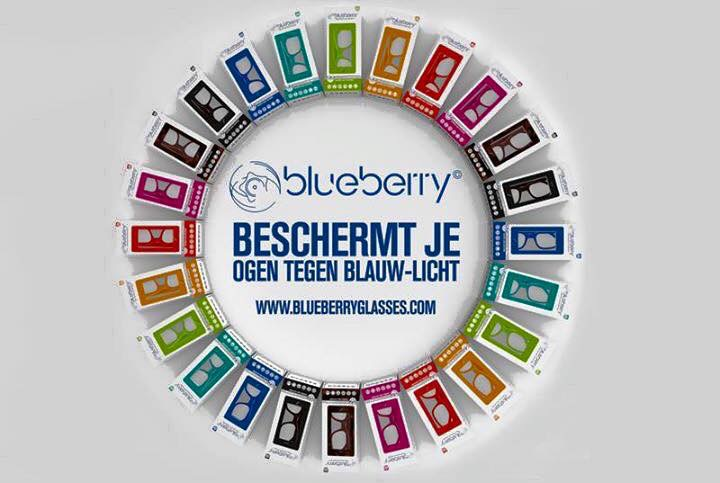 Computerbril Blueberry L havanna +2.00