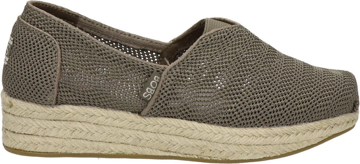 Bobs by Skechers dames espadrille - Taupe - Maat 40